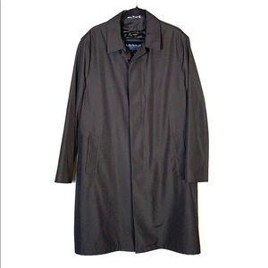 Ralph Lauren Overcoat with Zip-out Liner 40R Black